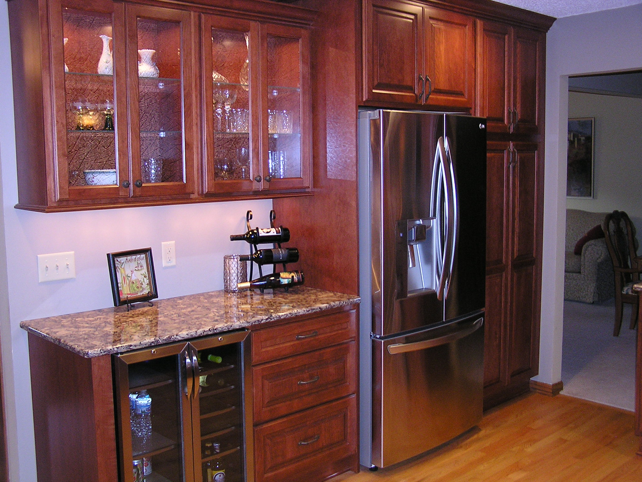 apple valley kitchen cabinets appliance packages costco remodel featuring cherry