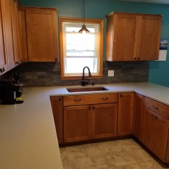 Maple Countertops Kitchen Floor Mats Walmart Remodel With Cabinets And Hanstone Quartz