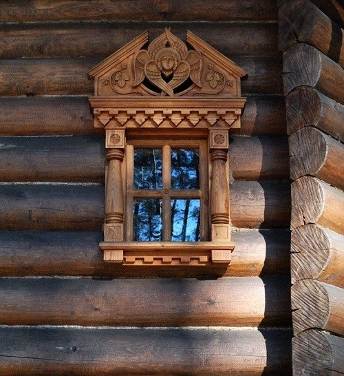 Wooden church, detail