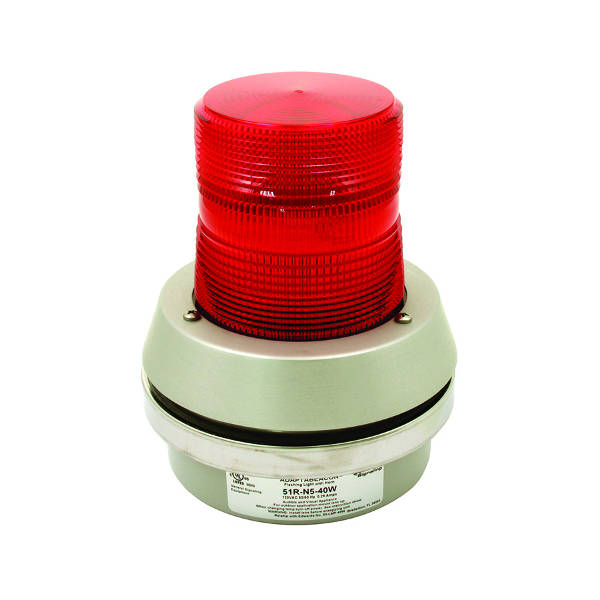 flashing red beacon light