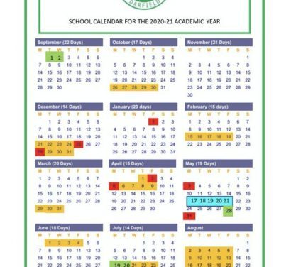 Term Dates and Inset Days 2020-21