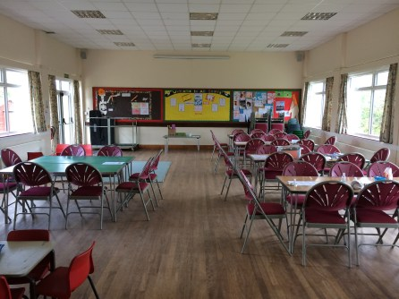The hall laid out with activities...