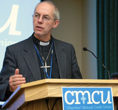 Archbishop Justin Welby at the Churches Mutual Credit Union launch