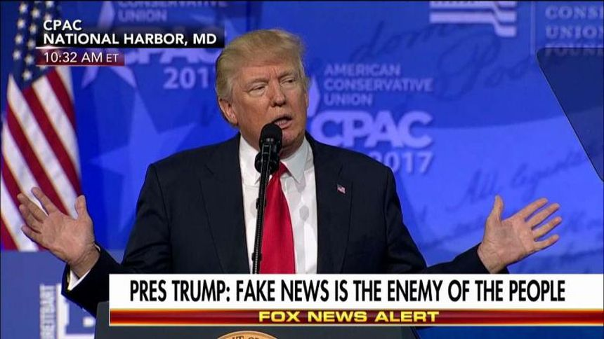 TV screenshot of President Trump