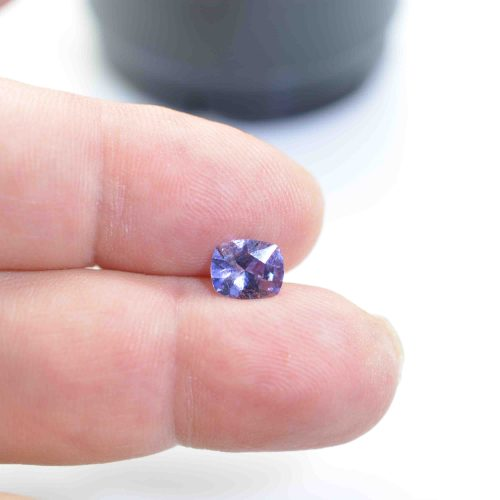 cushion blue sapphire