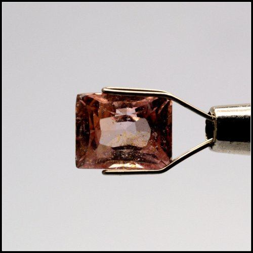 rectangular peach sapphire