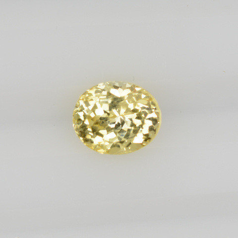 Canary yellow oval sapphire