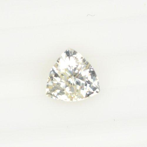 Trillion white sapphire