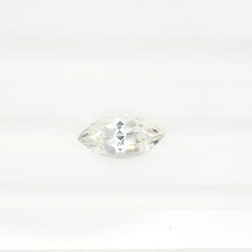 Marquise white sapphire
