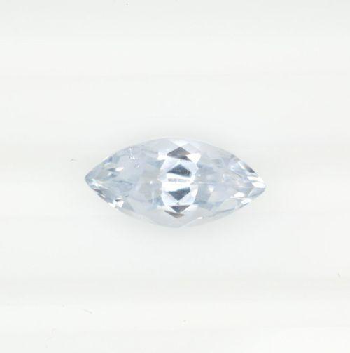 Marquise bluish white sapphire