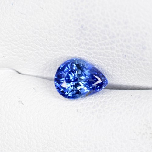 Pear shape royal blue Sapphire