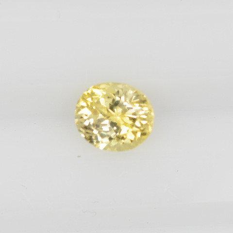 Yellow oval sapphire