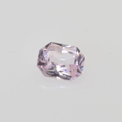emerald cut loose peach sapphire