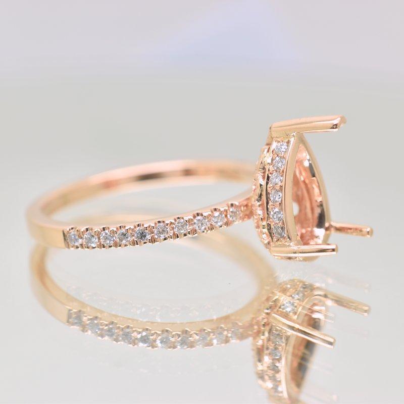 rose gold ring setting