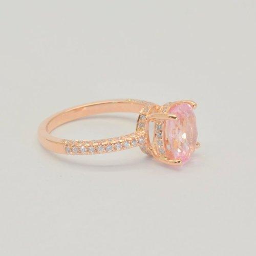 Padparadscha rings
