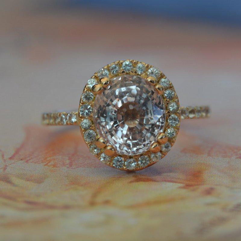 engagement ring rose gold