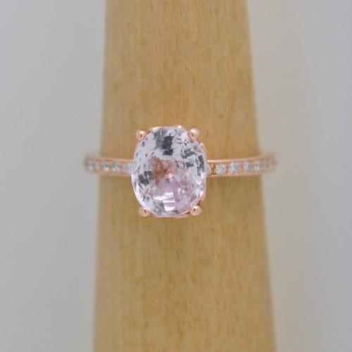 julia rose gold sapphire ring