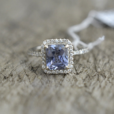 engagement ring white gold and sapphire