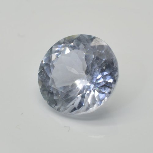 nateral untreated round white sapphire