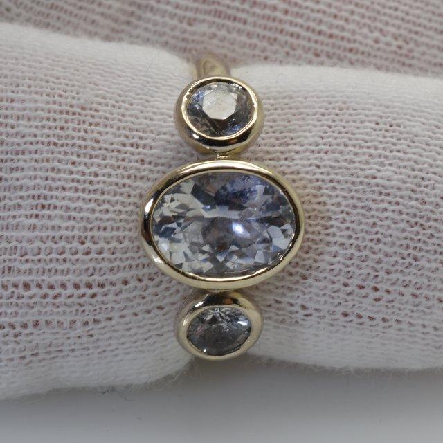 White gold bezel ring