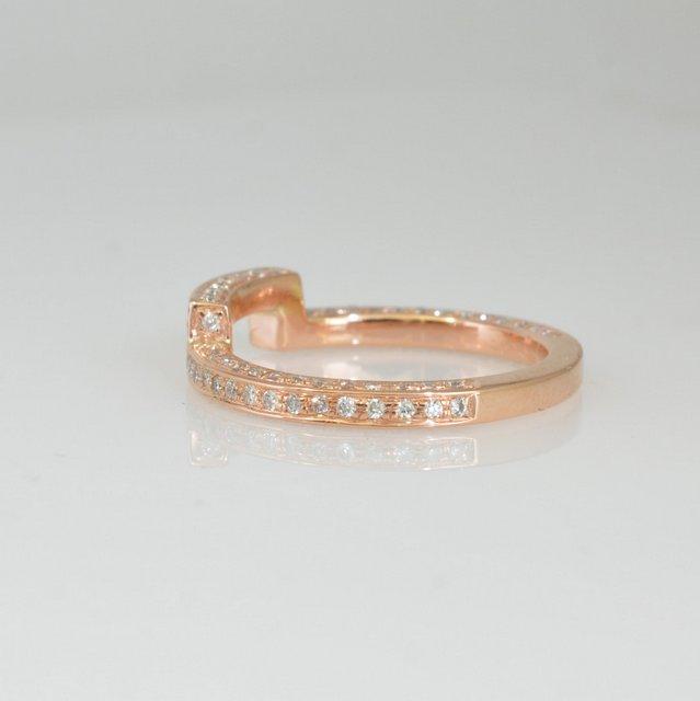 Unique handmade gold wedding band