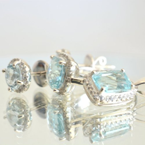 aquamarine 4 parts set