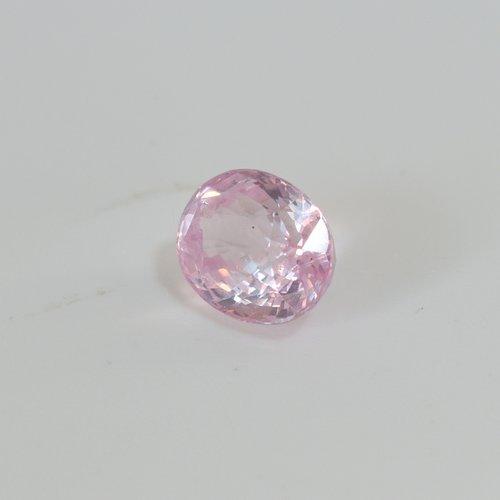 oval peach sapphire