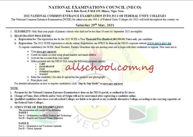 ncee 2021 registration advert