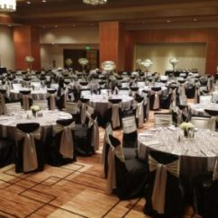 Gold Chair Covers With Black Sash Office Task Gallery All Seasons Party Linen Rental Polyester Silver Satin Sashes