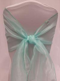 Tiffany Blue Organza Chair Sash - All Seasons Party Linen ...
