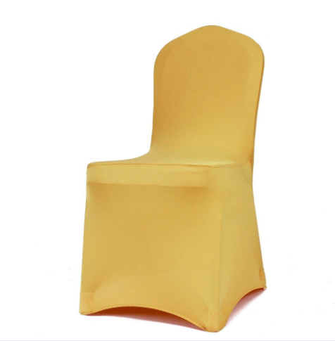 Gold Spandex Chair Cover  All Seasons Party Linen Rental