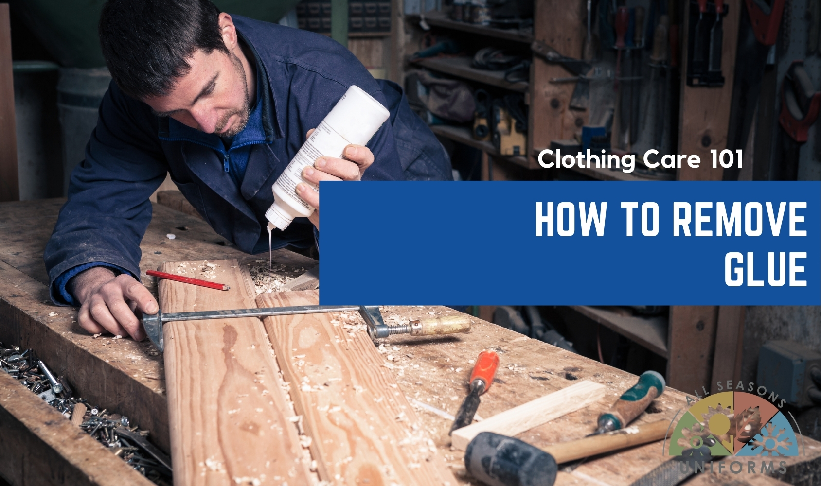 Clothing Care 101 – How to Remove Glue Stains from Work Clothes