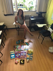 School supplies donation to a low-income school in Brazil