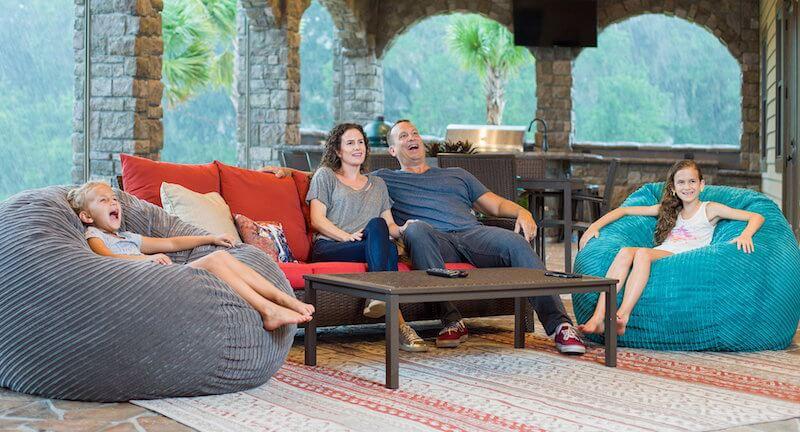 sofa chair covers amazon patio swivel seat post bushing cordaroys convertible beanbag chairs - shark tank products