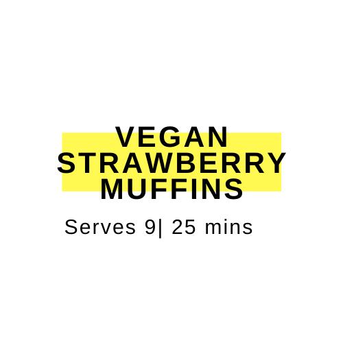 vegan strwaberry muffins