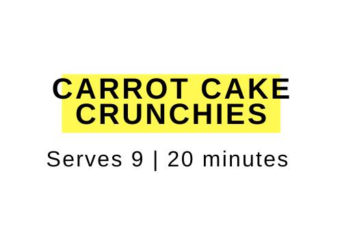 carrot cake crunchies