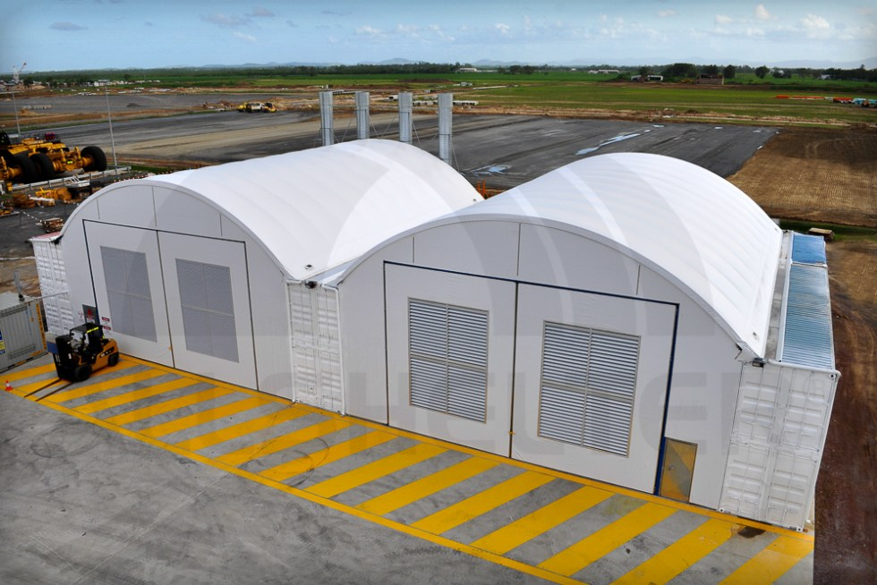 Image of fully enclosed Allshelter Container Shelters.