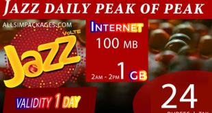 JAZZ DAILY PEAK OFF-PEAK
