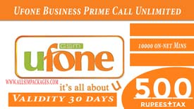 Ufone Business Prime Call 1500