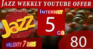 JAZZ WEEKLY YOUTUBE OFFER