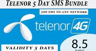 telenor 5 days sms bundle