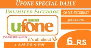 UFONE SPECIAL DAILY