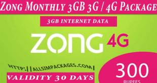 zong monthly 3gb offer