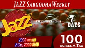 Jazz Sargodha Weekly Offer
