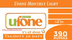 UFONE MONTHLY LIGHT