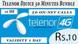 telenor djuice 50 minutes bundle