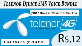telenor djuice sms voice bundle
