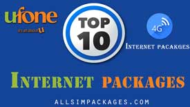 Top 10 ufone internet packages