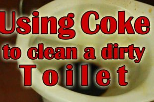 how to clean toilet with coke