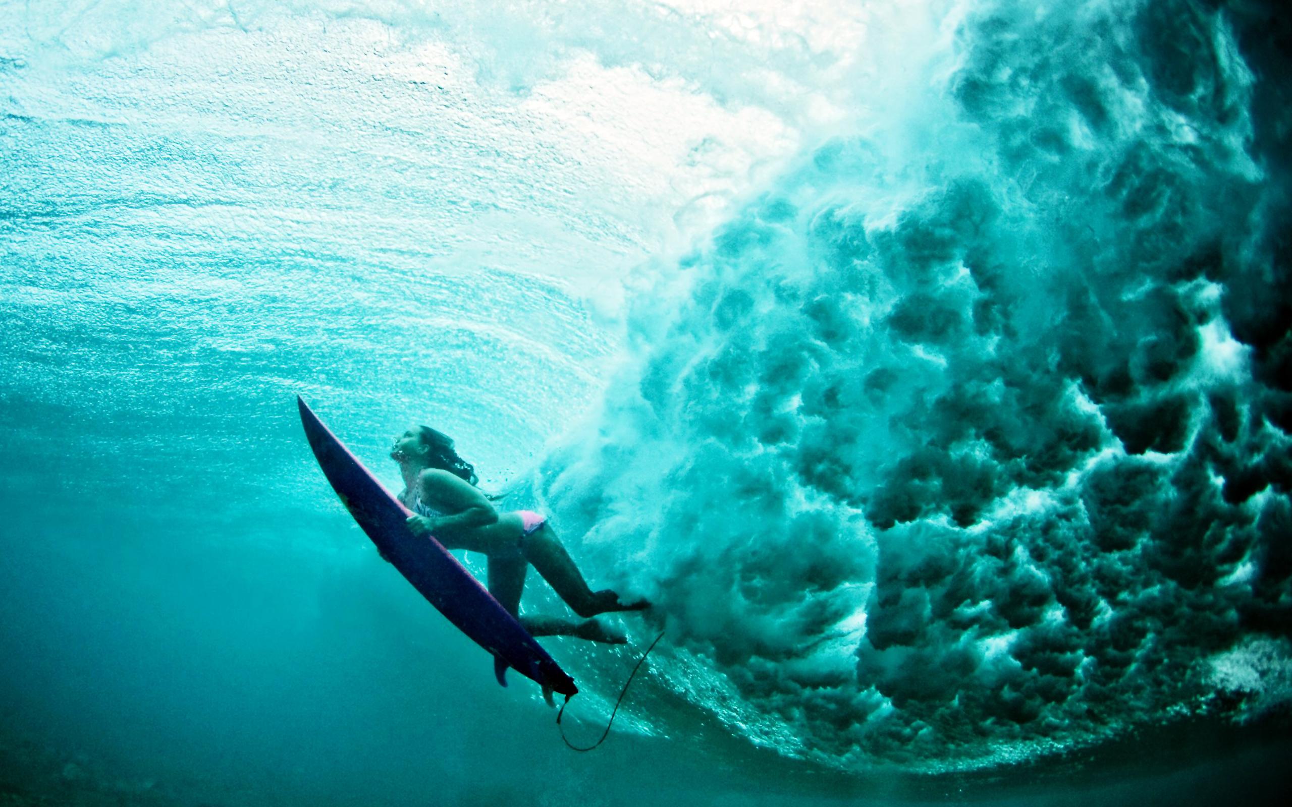 Surfer Girl Wallpaper 1440x900 Terralonginqua Underwater Surf Girl Wallpaper